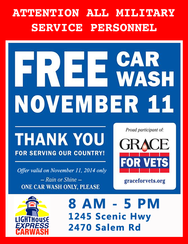 Free Car Wash for Veterans & Active Milatary on 11 ... - Yelp