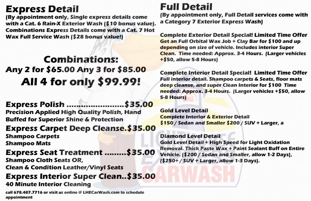 Express Car Wash Detail Services