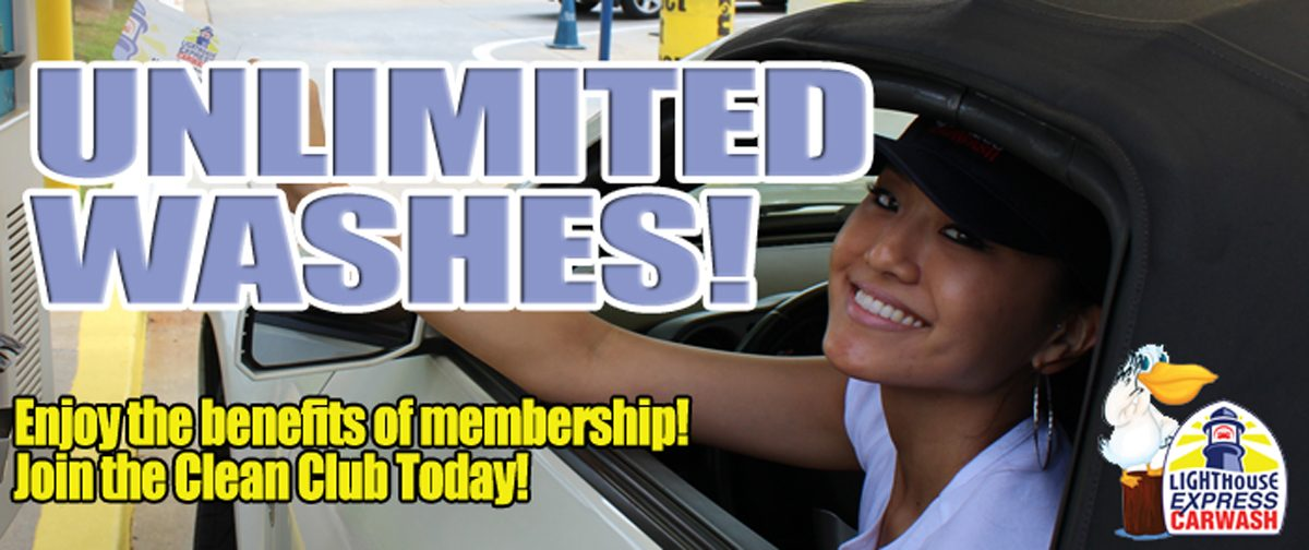 Unlimited wash club starting at just $10
